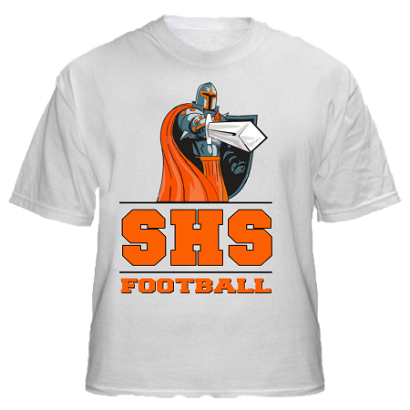 Varsity imprints shs black knights with sword all for High school football shirts