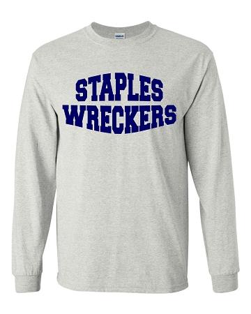 Varsity imprints staples high school staples wreckers for Staples custom t shirts