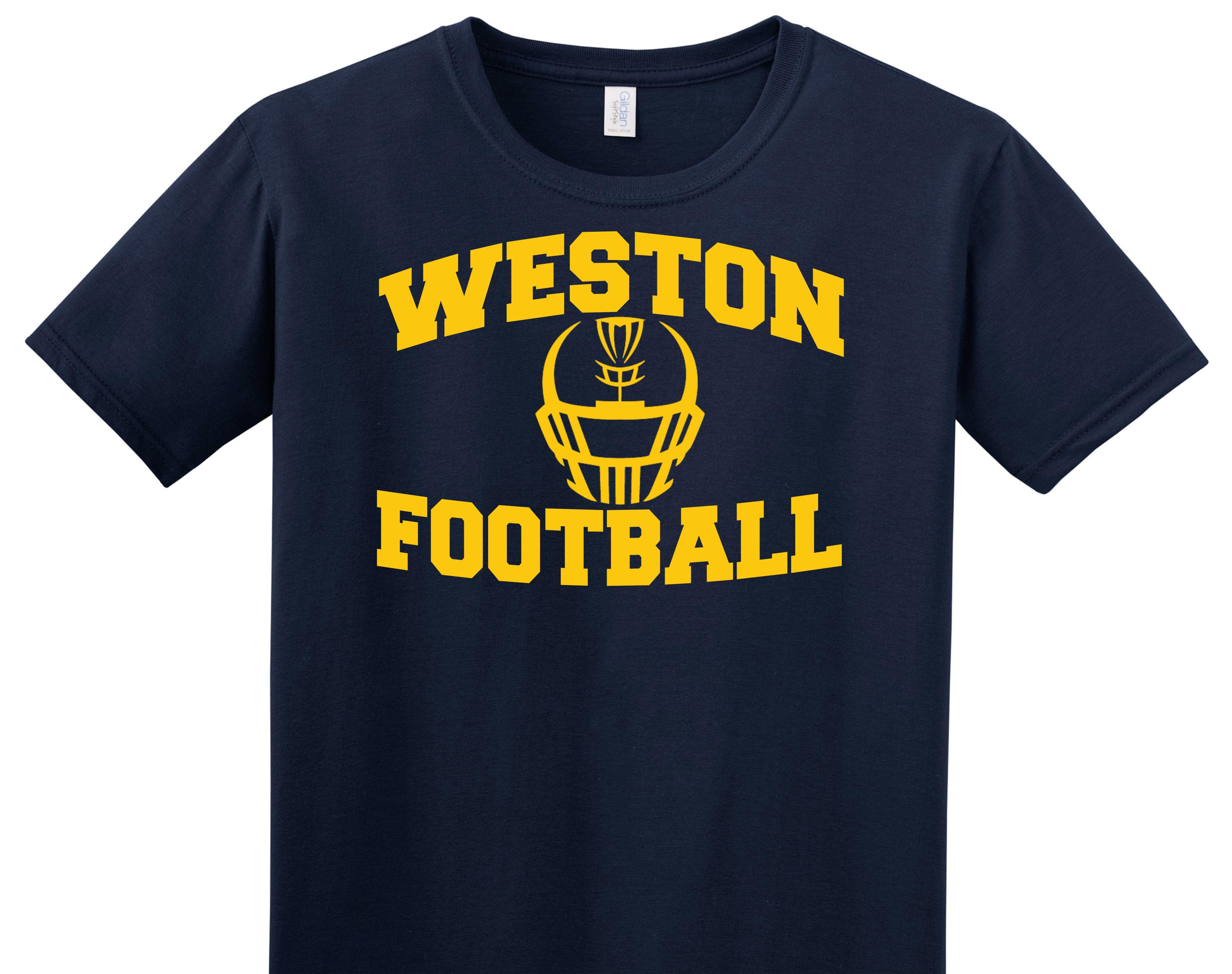 Varsity imprints weston hs football helmet t shirt for High school shirts designs
