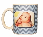 New Born Baby Photo Mug - Chevron Pattern
