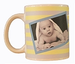 New Born Baby Photo Mug - Stripes