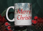 Merry Christmas With Snowflakes Mug
