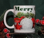 Merry Christmas With Evergreens Mug