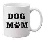 DOG MOM or DOG DAD Mug<BR>(Choice of Colors)