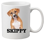 Customized Dog Mug<BR>(Choice of Colors)