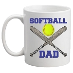 Softball DAD / MOM Mug<BR>(Choice of Colors)