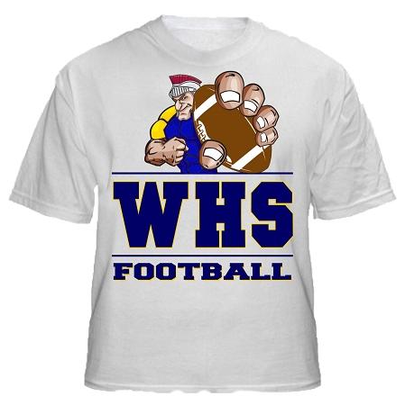 Varsity imprints weston hs trojan logo shirt for High school basketball t shirts