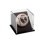 Single Angled Baseball Display Case OVERSTOCK