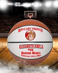 Full Size 2-Panel Senior Gift Basketball