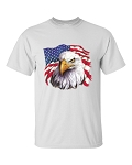 Eagle With Flag Patriotic T-Shirt