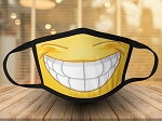 EMOJI SMILE IMPRINT FACE MASK