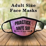 PRACTICE SAFE SIX ADULT FACE MASK