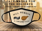 Thanksgiving Day Print Face Mask - Youth / Adult Sizes