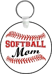Softball Mom or Dad Key Chain