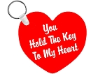 Personalized KEY TO MY HEART Key Chain