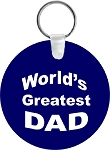 World's Greatest Dad  Key Chain