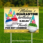 Quarantine Birthday Lawn Sign