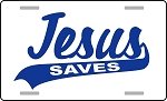 Jesus Saves License Plate