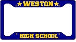Custom Designed License Plate Frame - Solid Color