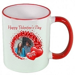 Personalized Circle of Love PHOTO Valentines Day MUG