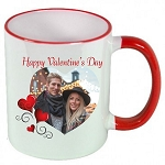 Personalized Heart PHOTO Valentines Day MUG