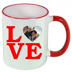 Personalized LOVE Letters PHOTO MUG