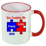 You Complete Me Puzzle MUG