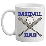 Baseball DAD / MOM Mug<BR>(Choice of Colors)
