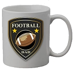 Football DAD or MOM Shield Mug