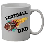 Football DAD or MOM Flame Mug