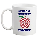 World's Greatest Teacher MUG - Apple Design Personalized