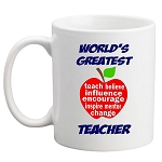World's Greatest Teacher MUG - Apple Design
