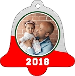 Bell Shaped Photo Christmas Ornament