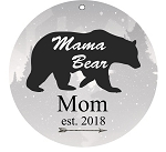 Round 3-inch Aluminum Family Bears Ornament