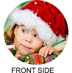 Round 3-inch Aluminum Photo Christmas Ornament