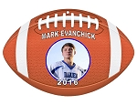 Football Aluminum Photo / LOGO Christmas Ornament