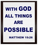 All Things Are Possible Wood Plaque