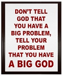 Big Problem - BIG GOD Wood Plaque