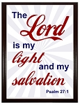 The Lord Is My Light Wood Plaque