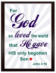 For God So Loved The World Wood Plaque