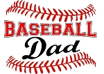 Baseball Dad Red Stitching T-Shirt