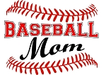 Baseball Mom Red Stitching T-Shirt