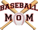 Baseball Mom Crossed Bats T-Shirt
