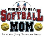 Proud To Be A Softball Mom OVERSTOCK T-Shirt