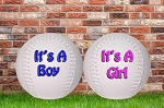 Birth Announcement Softball