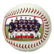 Custom Designed Team Photo Baseball
