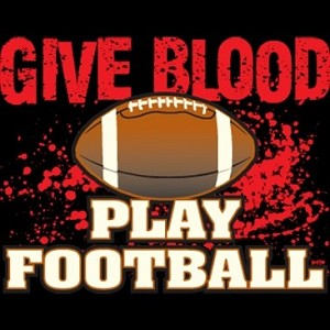 Give Blood - Play Football T-Shirt