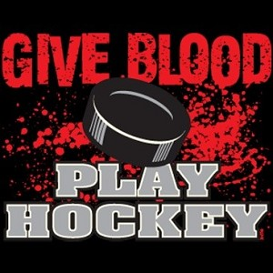 Give Blood - Play Hockey Design
