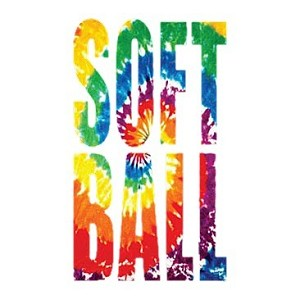 Softball Tie Dye Design