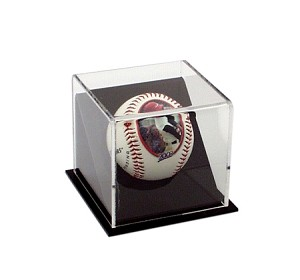 Single Angled Baseball Display case